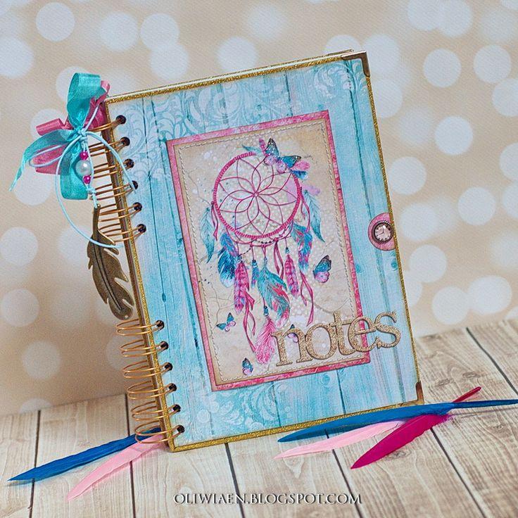 CraftHobby Oliwiaen: Notes boho / Boho Style Notebook