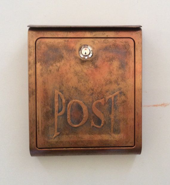 Hey, I found this really awesome Etsy listing at https://www.etsy.com/listing/269437857/wall-mount-locking-metal-mailbox-antique