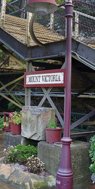 Mt Victoria Railway Station. Note the date on the stone.