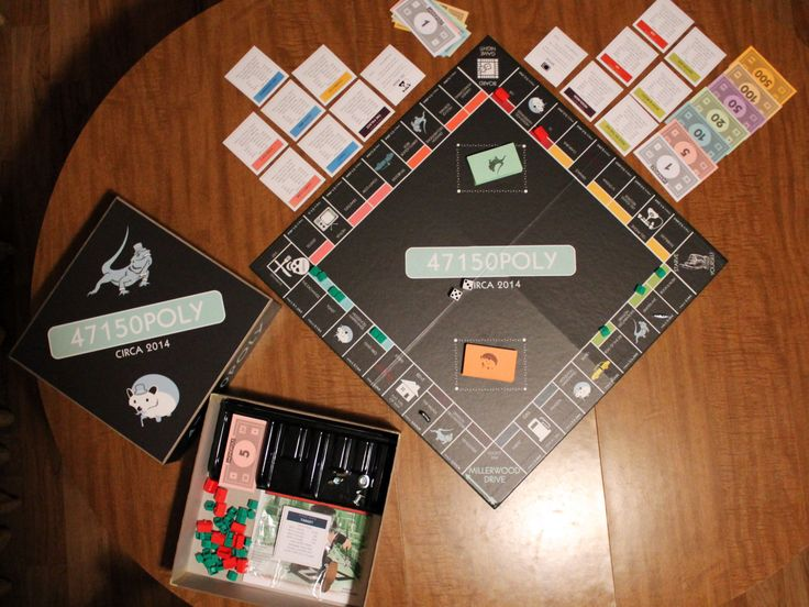 Paquete de juego de mesa monopolio personalizado con caja