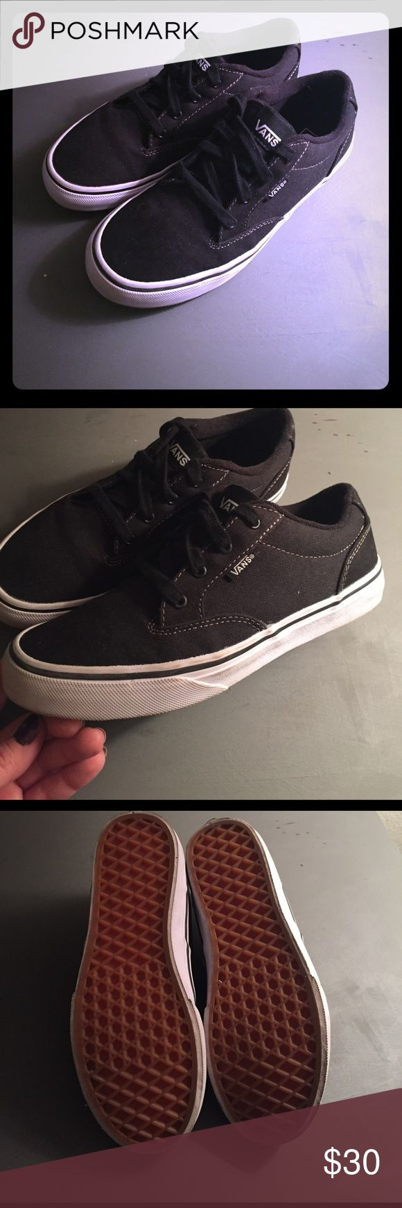 Vans Winston Boy's Size 4.5M-Black Like New Boy's Vans Winston, size 4.5M, worn only once for family photos. Vans Shoes Sneakers