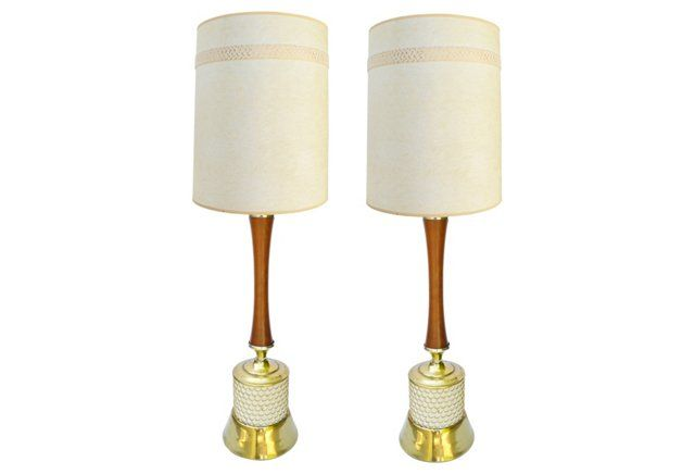Midcentury Table Lamps, Pair