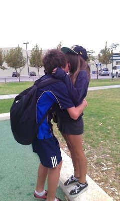 Tall boyfriend + short girlfriend = cutest people ever