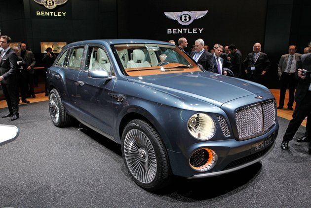 The 2012 Bentley EXP 9 F. Showed at the 2012 Geneva Auto Show.