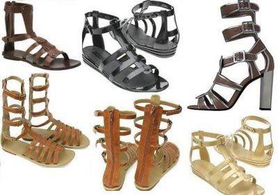 como usar sandalia gladiadora