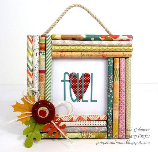 Superior Popper U0026 Mimi Paper Crafts: Fall Decor: Rolled Paper Frame By Amazing  @Amanda