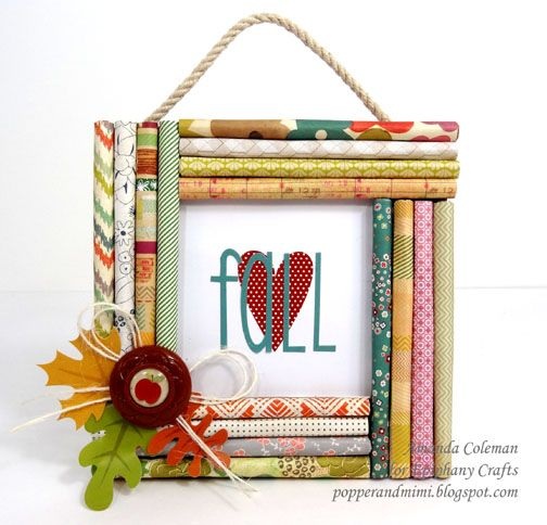 popper mimi paper crafts fall decor rolled paper frame by amazing amanda