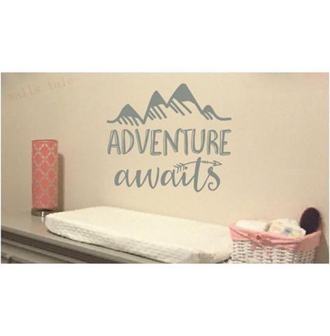 """Adventure Awaits"" Vinyl Wall Decal"