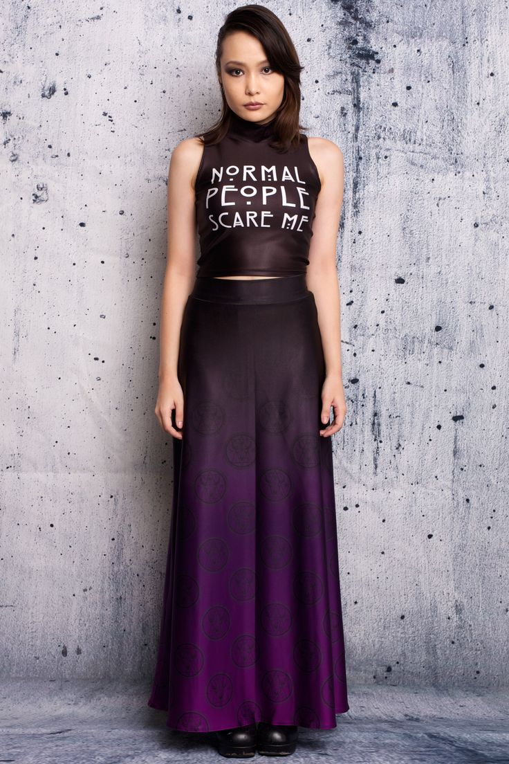 Normal People Scare Me High Crop - $55 AUD and Monsters Among Us Maxi Skirt  - $100 AUD