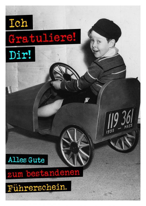 Zum bestandenen Führerschein   Glückwünsche   Echte Postkarten online versenden…