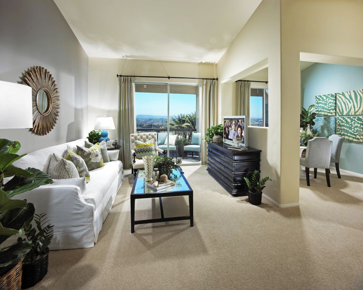 The Charleston Living Room - City Lights Apartments in Aliso Viejo, CA.