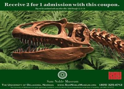 Oklahoma Museum Of Natural History Coupon