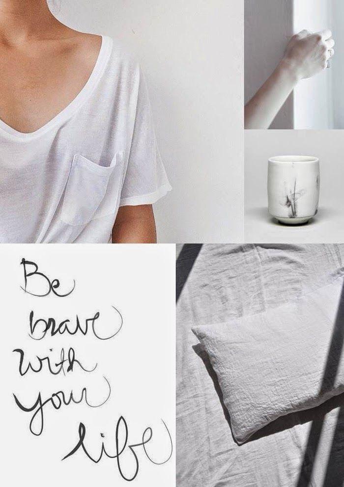 Monday moodboard   Pure white