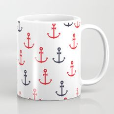 Anchor Pattern Mug