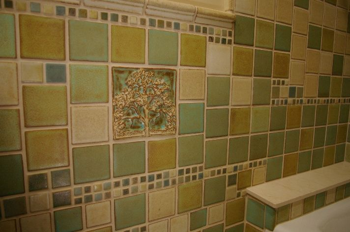 Kitchen With Arts And Crafts Tile Google Search Arts And Crafts Kitchen Tile Pinterest Arts And Crafts Crafts And Craftsman Bathroom