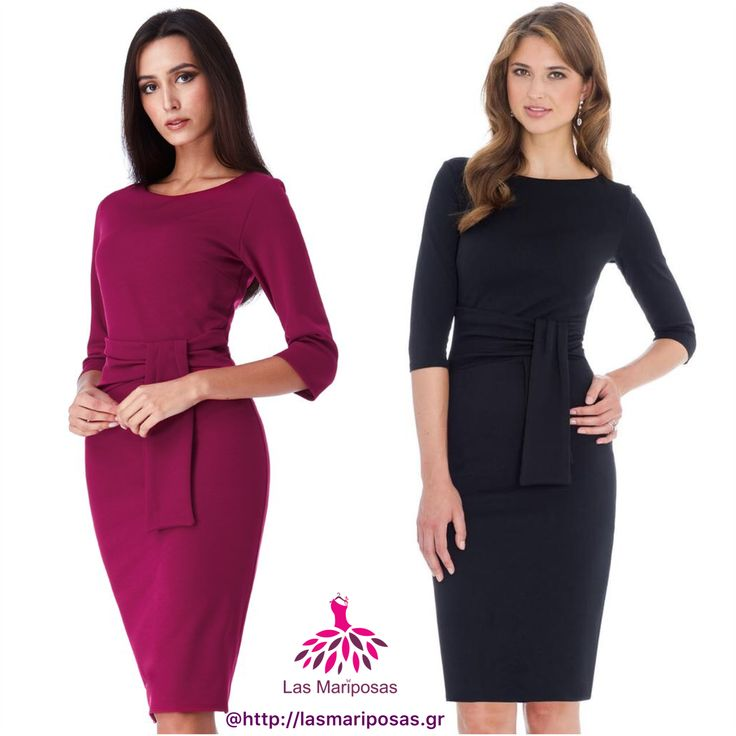 Tara pencil midi φόρεμα in Black and Berry