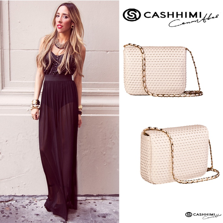 Cashhimi White DOWNING Leather Clutch