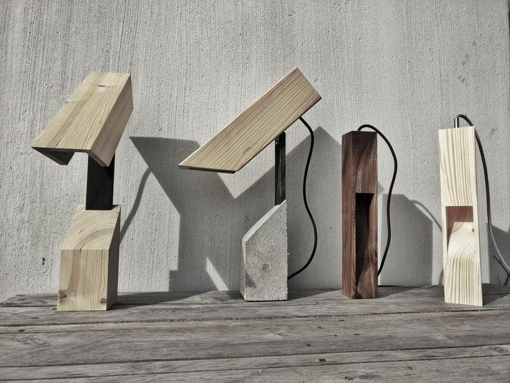 Lamps, lys design, lamper, Wood, Wood lamps, Concrete, beton, enterior