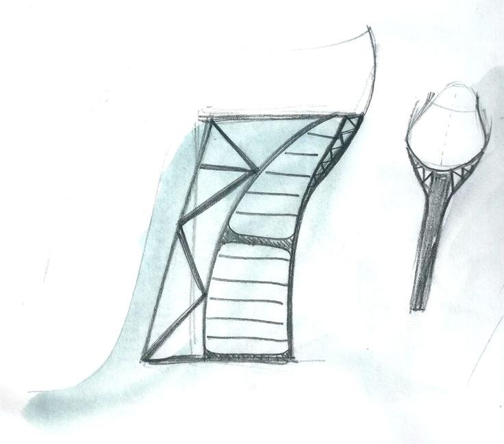 Heel Jewel Shoe drawing by Alessia Semeraro / London Architecture inspiration _ Marylebone train station //