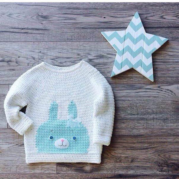 Patron para hacer un sueter tejido a crochet para bebe03