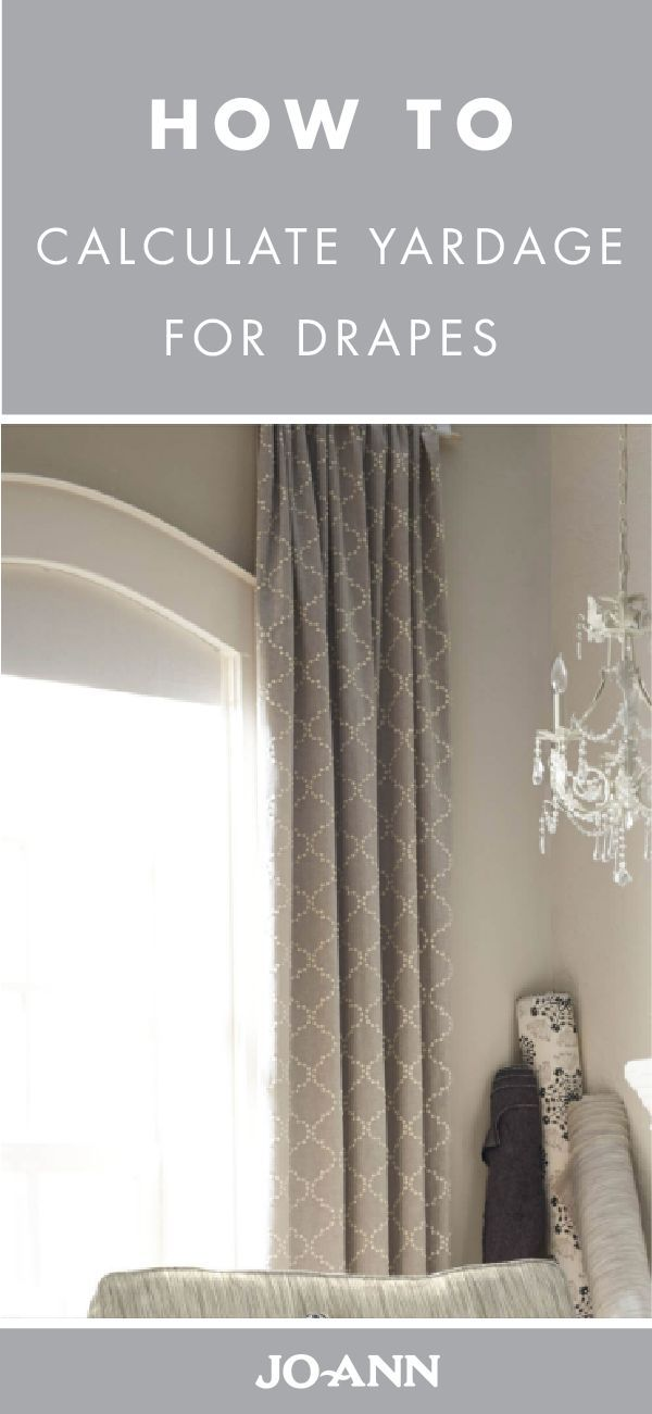 Curtains make a great go-to sewing project for beginners and experts. Check out Jo-Ann's guide on calculating yardage for drapes so you know how much fabric you'll need to give your living room a much-needed refresh.