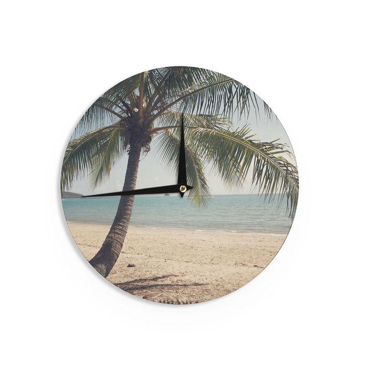 Kess InHouseCatherine McDonald 'Tropic of Capricorn' Ocean Photography Wall Clock (Tropic of Capricorn), Blue, Size 12 (Wood)