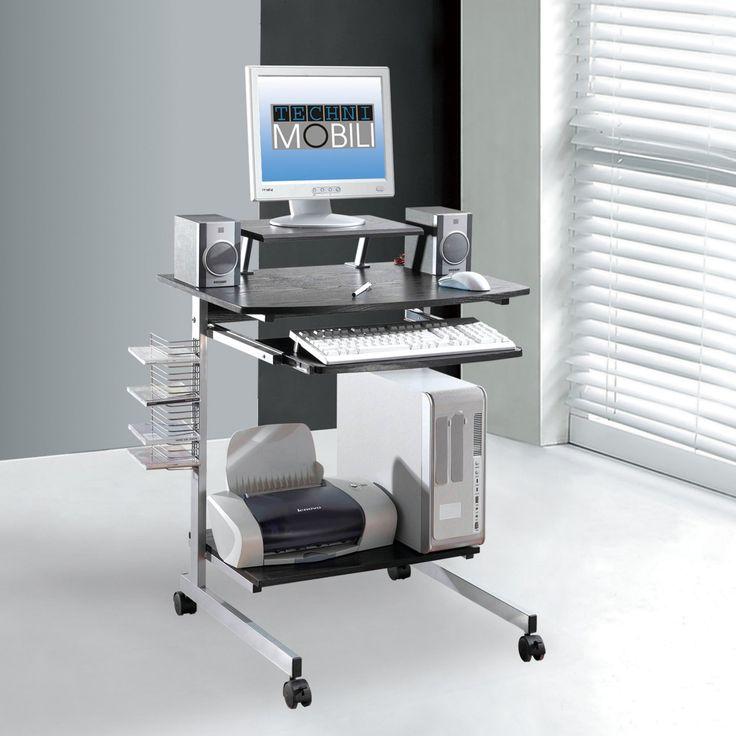 Techni Mobili Multifunction Mobile Computer Desk - RTA-2018-ES18