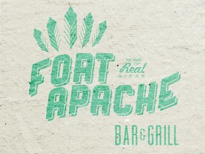 Fort Apache. Lost Type's Ranger: Logos Fonts Types Prints Posts, Apache Logos