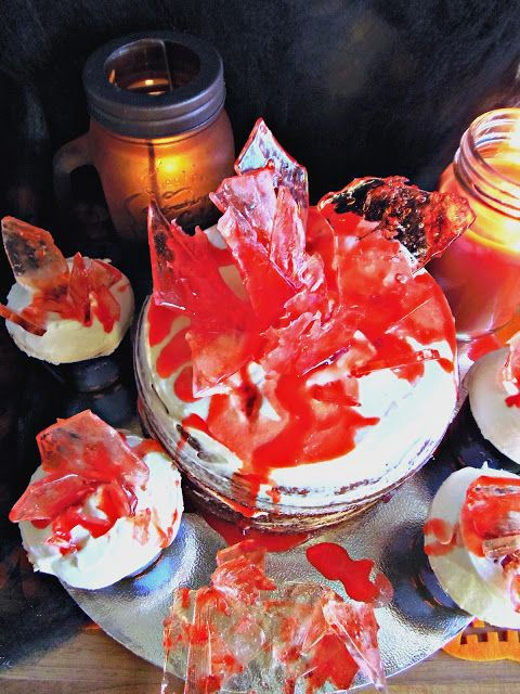 Dexter's cupcakes and Dexter's cake! Red Velvet.