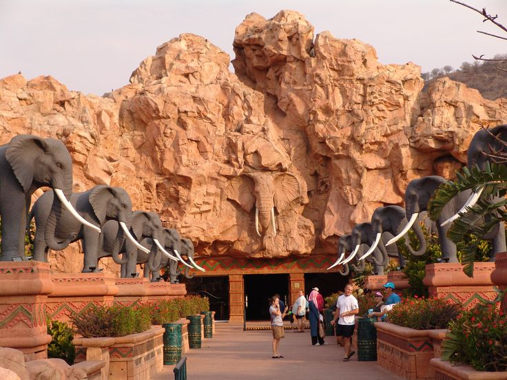 Elephant Bridge at Sun City, which joins the casino to the Valley of the Waves.