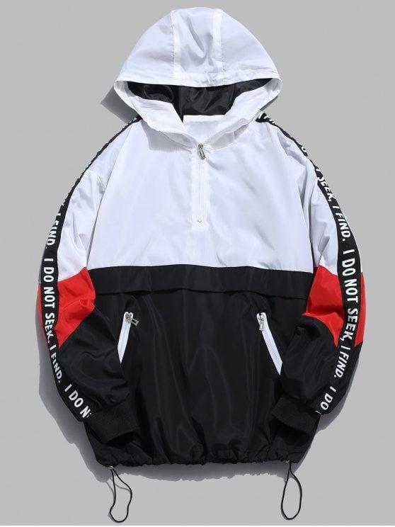 ad519e355 Contrast Half Zip Graphic Striped Hoodie | Nike | Windbreaker jacket ...