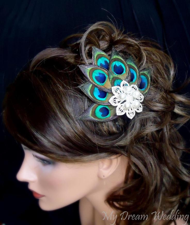 Peacock Hair Clip.