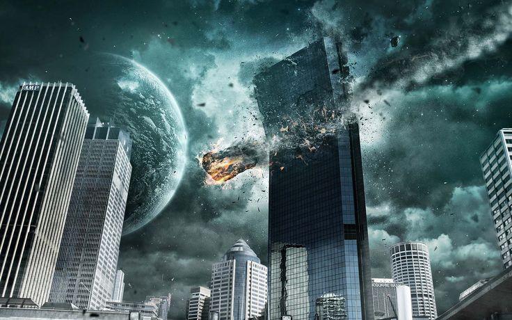 1920x1200 City Destroyed By Aliens 4k Ultra Hd Backgrounds Wallpaper City Background Background Pictures Broken City