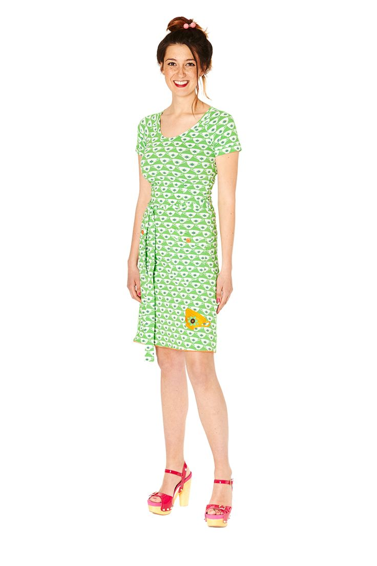 Tante Betsy dress: Cup of tea green