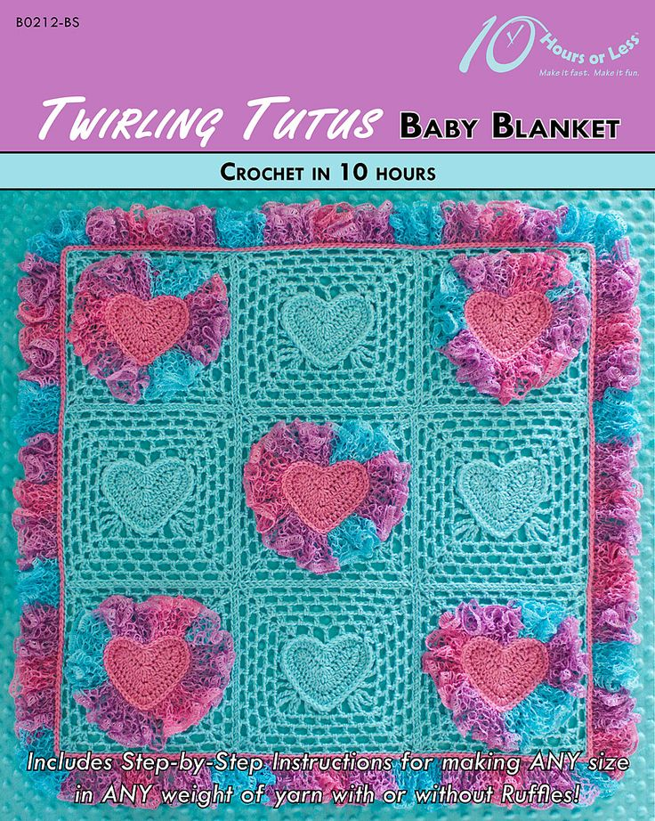 Twirling Tutus baby blanket in @redheartyarns Boutique Sashay Mini [crochet in 10 hours]