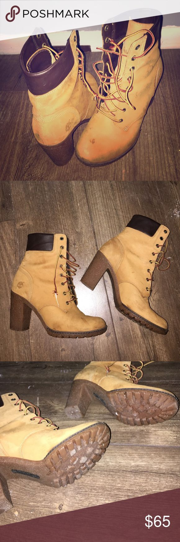 Heeled Timberlands I love these boots, but I never wear them. They need a good home. Timberland Shoes Ankle Boots & Booties