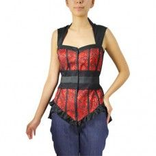 Red Lace Bustier Top. www.nixdungeon.co.nz