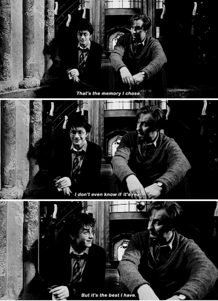 Harry Potter - I was thinking of him. And Mum. Seeing their faces. They were talking to me. Just talking.