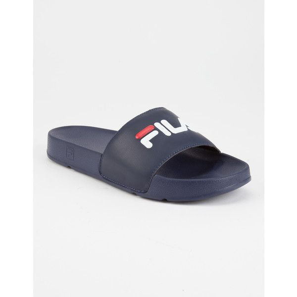 2e410e2301c5 Fila Drifter Womens Slide Sandals ( 30) ❤ liked on Polyvore featuring shoes