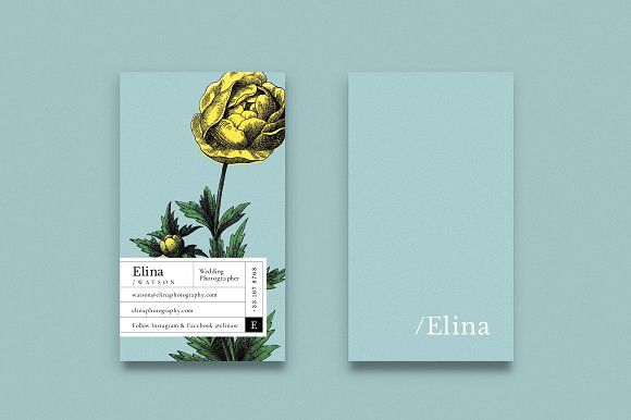 Elina business card by 1948 Creative Co. on @creativemarket