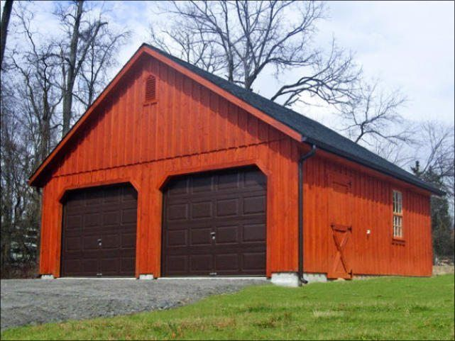 1 Story 24 x 24 Board and Batten 8/12 Roof Pitch Garage | Penn Dutch Structures
