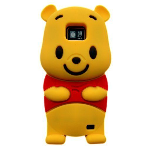 3D Cartton Bear Soft Rubber Case for Samsung Galaxy S2 i9100 - Samsung Galaxy S2 i9100 Cases - Samsung Cases