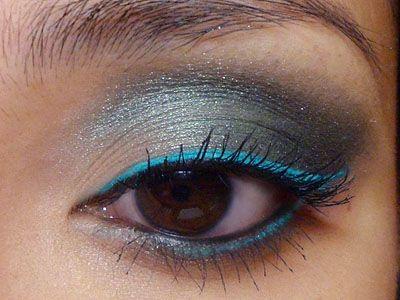 Grey and BlueStorms Green, Double Lin Eye, Eye Makeup, Aqua Double Lin, Aqua Blue, Beautiful, Bright Aqua, Aqua Liner, Blue Eyeshadows