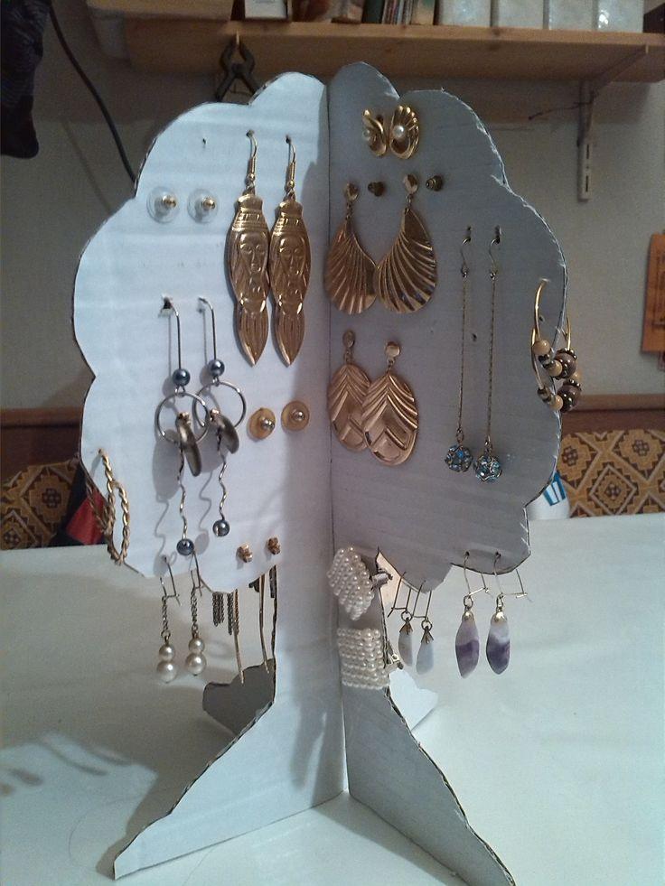 fülbevaló tartó fa