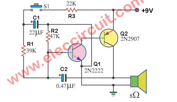 4 Electronic Siren circuits using transistors | andy .@ wood ... on