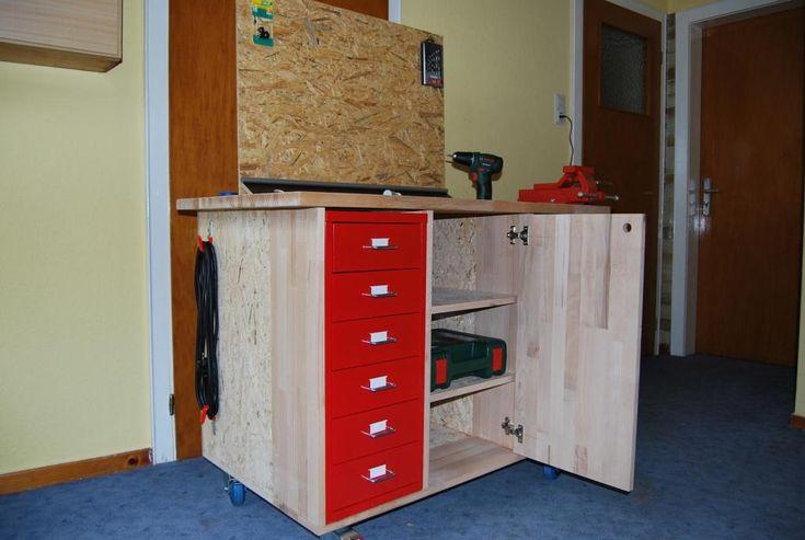 die besten 25 mobile werkbank ideen auf pinterest werkbank ideen holzarbeiten shop und tischs ge. Black Bedroom Furniture Sets. Home Design Ideas