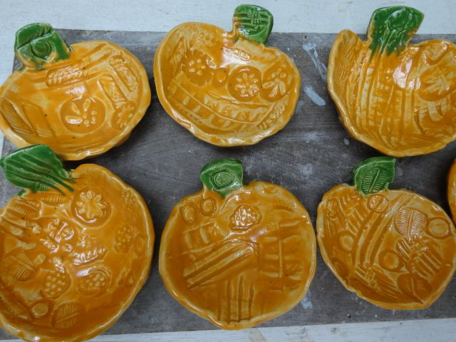 Clay pumpkins