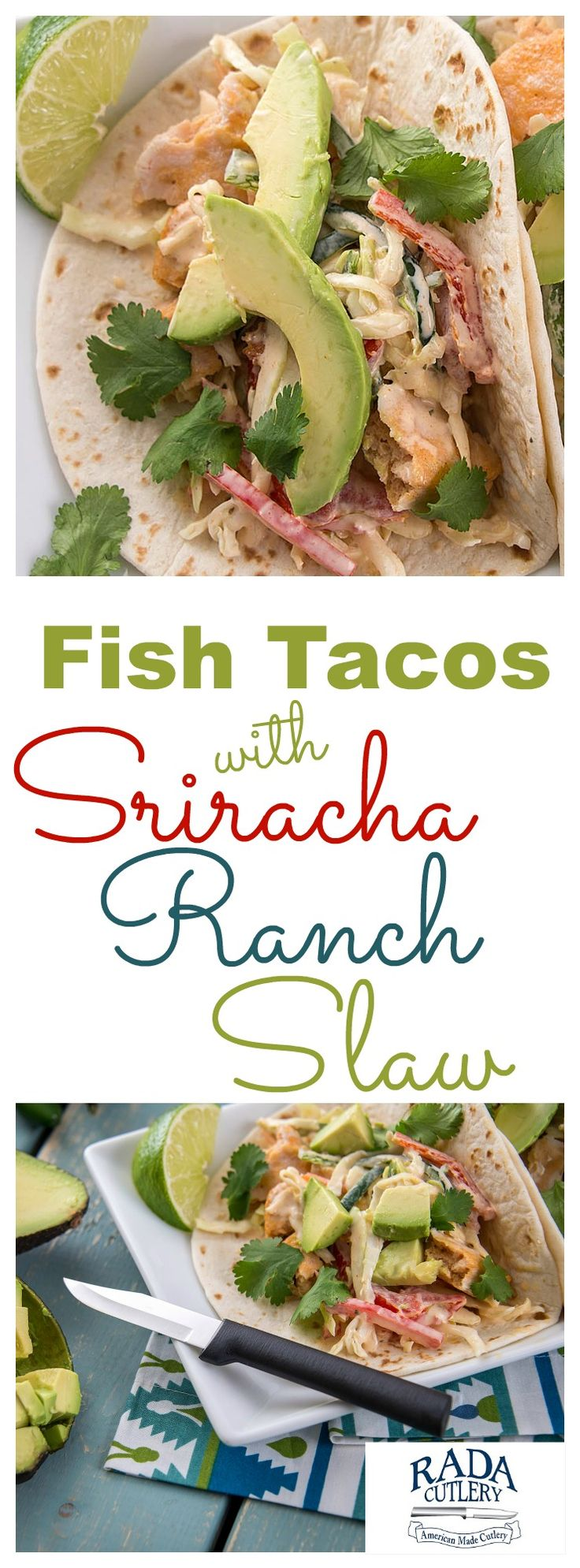 Ever tried an incredible fish taco on a warm day? If not, you're missing out! This just might be the best fish taco recipe in the world. It's seafood heaven, with a tangy sriracha slaw that takes it out of this world! #fish #taco #avocodo