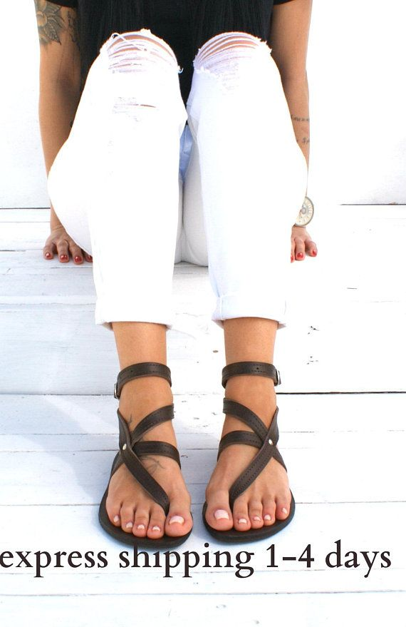 5e08f21fb ANTIGONE 3 sandals  Greek leather sandals  ankle cuff sandals  ancient grecian  sandals