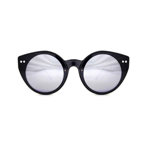 Spitfire Alpha Select Double Lens Black/Black/Silver Mirror Sunglasses (€44) ❤ liked on Polyvore featuring accessories, eyewear, sunglasses, black, mirrored sunglasses, spitfire glasses, spitfire sunglasses, mirrored lens sunglasses and silver lens sunglasses